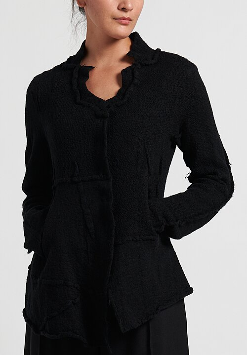 Rundholz Black Label Asymmetric Magnetic Closure Cardigan