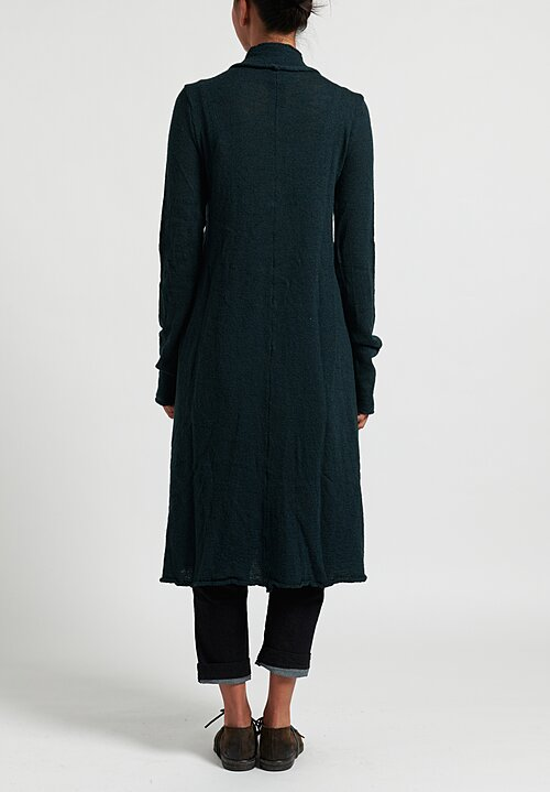 Rundholz Black Label Fit and Flare Knitted Coat in Green