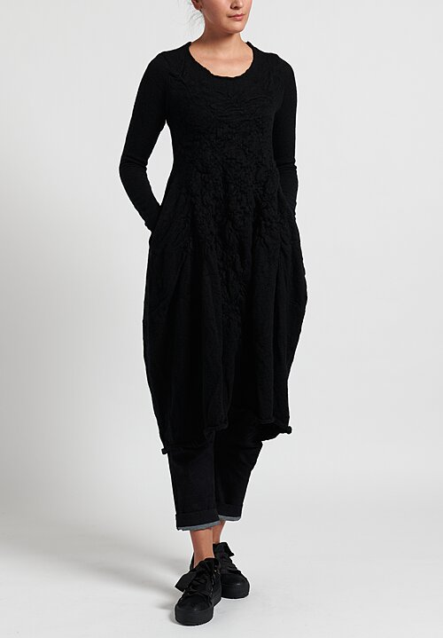 Rundholz Black Label Textured Fit and Flare Knitted Dress