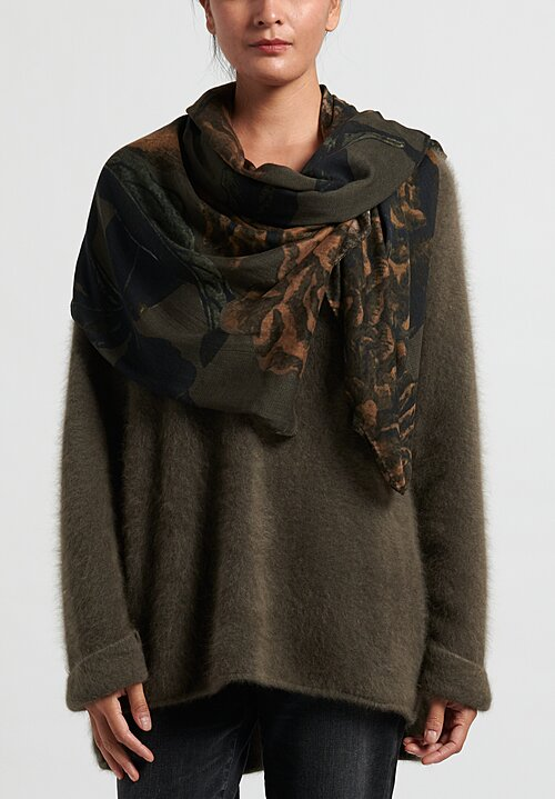 Rundholz Printed Scarf in Grey