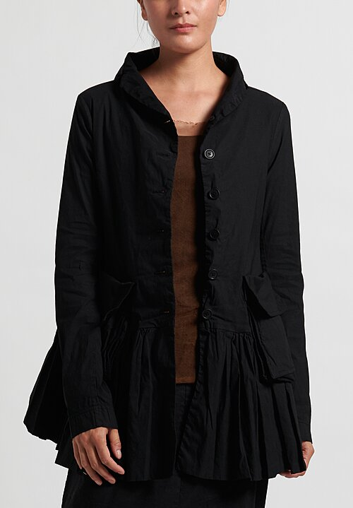 Rundholz Dip Gathered Hem Jacket