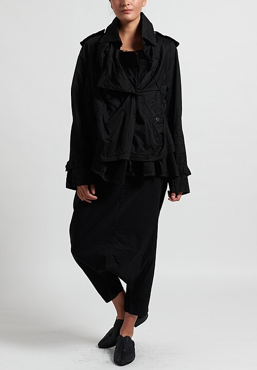Rundholz Dip Asymmetric Gathered Jacket