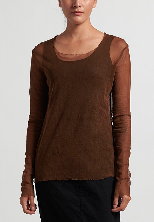 Rundholz Dip Simple Mesh Top in Clay