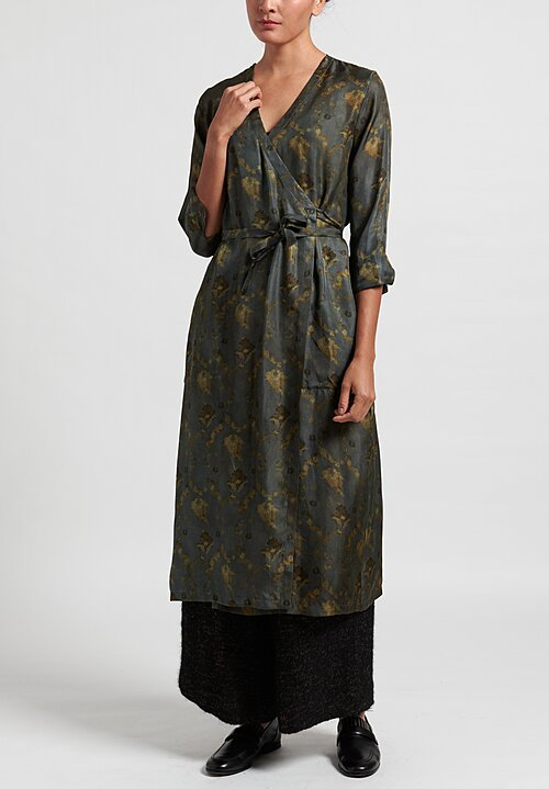 Uma Wang Silk Anthea Wrap Tunic in Blue