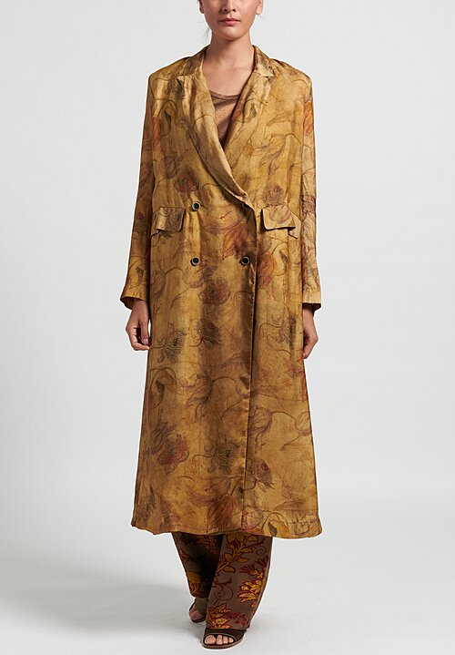 Uma Wang Calla Coat in Tan/ Mustard