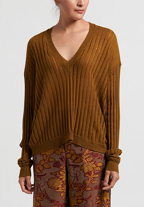 Uma Wang Lightweight Knit Top in Mustard