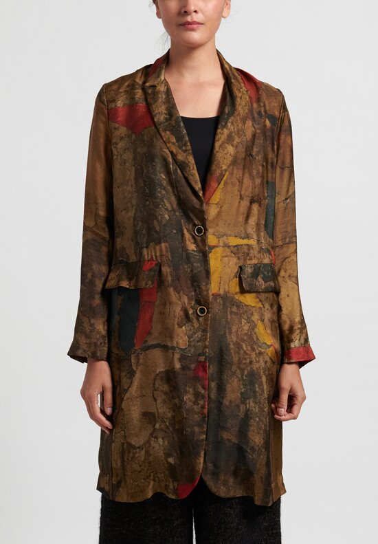 Uma Wang Katia Jacket in Brown/Red