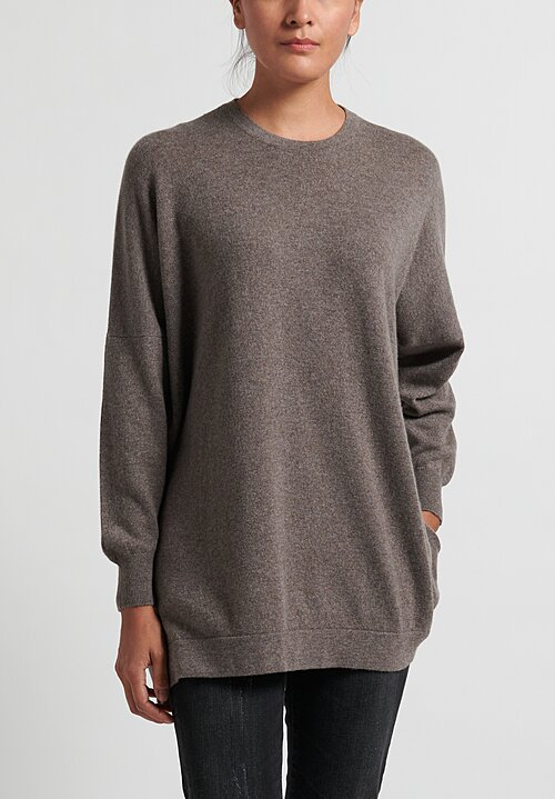 Hania New York Cashmere Marley Crewneck in Elk