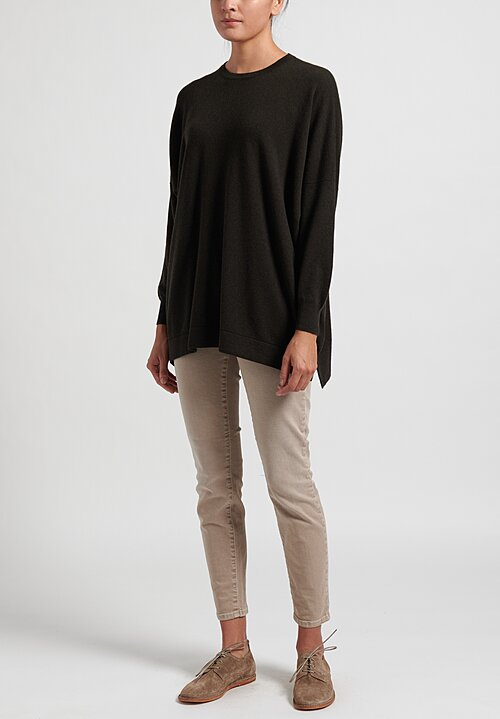 Hania New York Cashmere Marley Crewneck in Olive