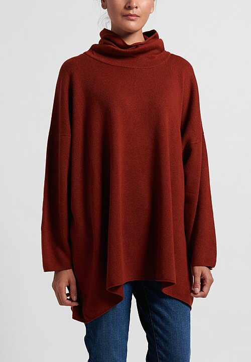 Hania New York Cashmere Cowl Neck Sweater in Harissa