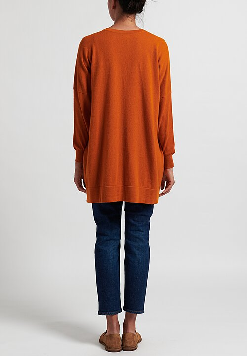 Hania New York Marley Cashmere V-Neck Sweater in Orange