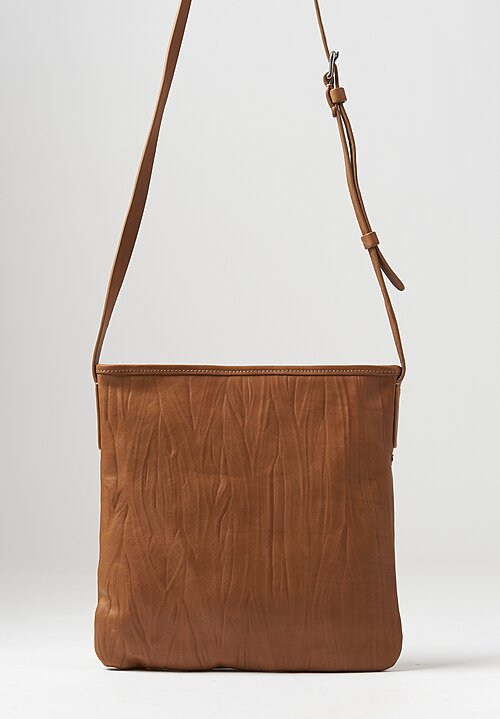 Massimo Palomba Layla Plisse Leather Bag in Tabac