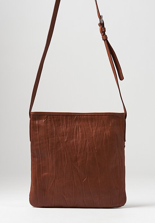 Massimo Palomba Layla Plisse Leather Bag in Brandy