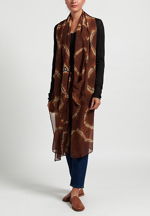 Masnada Plus Diagonal Scarf in Brown
