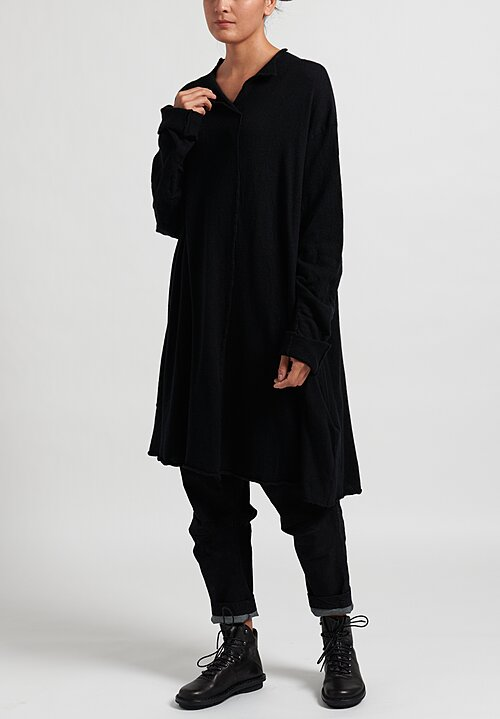 Rundholz Felted Edge Tunic in Black
