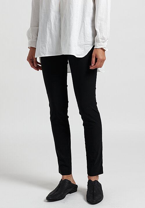 Rundholz Skinny Stretch Pants in Black