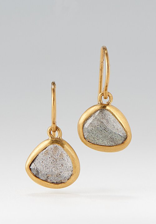 Greig Porter 22k Labradorite Single Drop Earrings