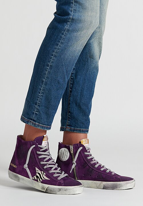 Golden Goose Zebra Fancy Sneakers in Purple