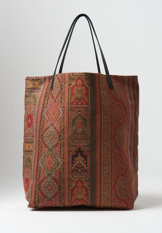Etro Paisley Shopping Bag Red