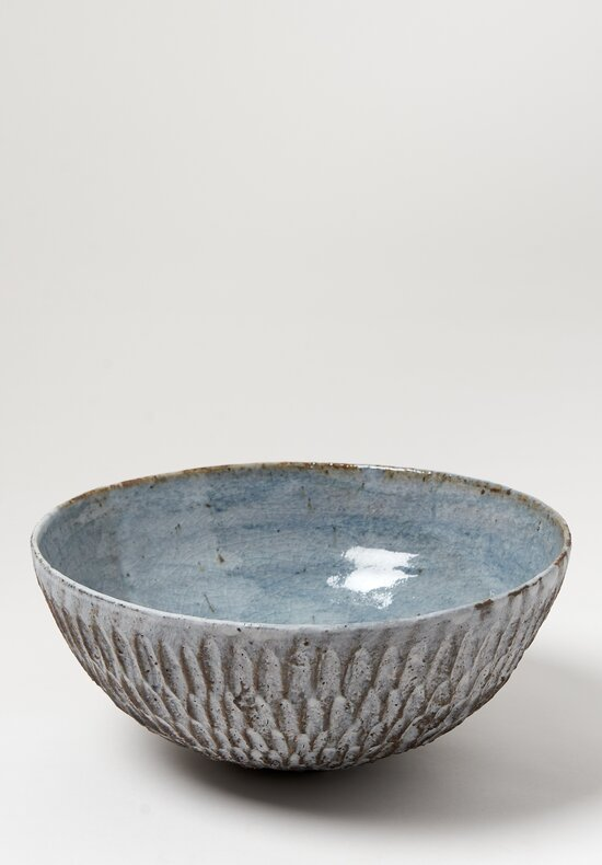 Akiko Hirai Medium Ceramic Dry Kohiki Flower Petal Bowl in Grey