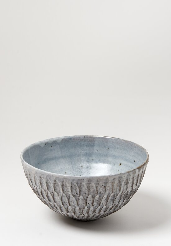 Akiko Hirai Small Ceramic Dry Kohiki Flower Petal Bowl in Grey