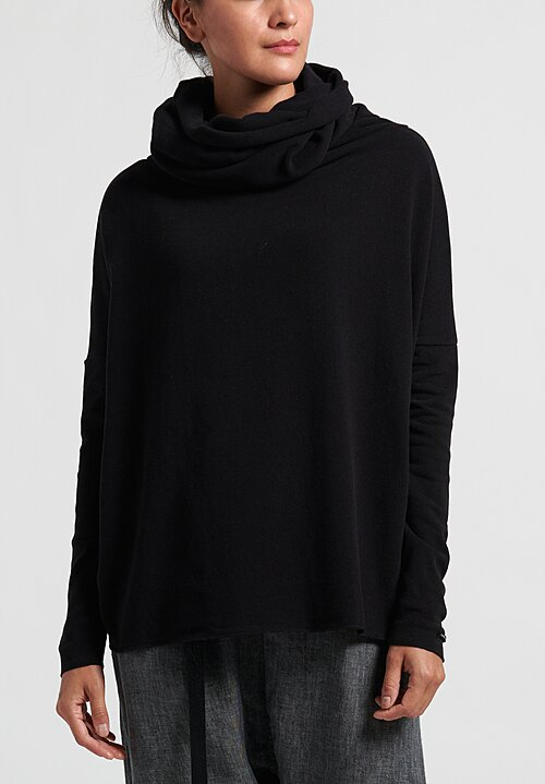 Album di Famiglia Wide Turtleneck Sweater in Black
