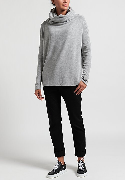 Album di Famiglia Wide Turtleneck Sweater in Gray