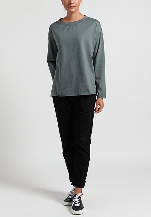 Album Di Famiglia Cotton Long Sleeve T-Shirt in Grey