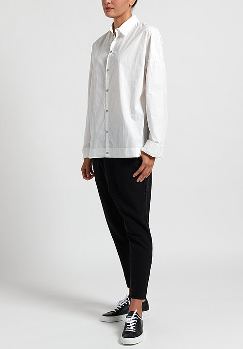 Album di Famiglia Men's Collar Cut Shirt in Milk