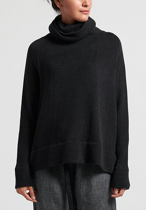 Album di Famiglia Turtleneck Sweater in Almost Black