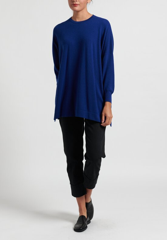 Hania New York Cashmere Marley Crewneck in Blue