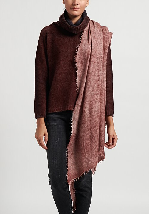 KAS Felted Cashmere Scarf in Wild Ginger/Apple Butter
