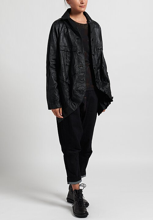 Rundholz Dip Leather Jacket in Black