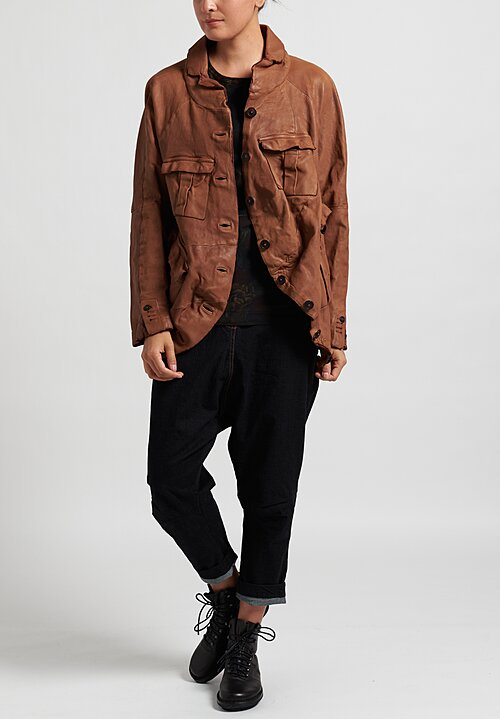 Rundholz Dip Leather Jacket in Clay