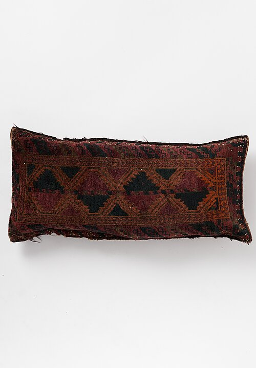 Antique and Vintage Large Hand-Knotted Patterned Pillow