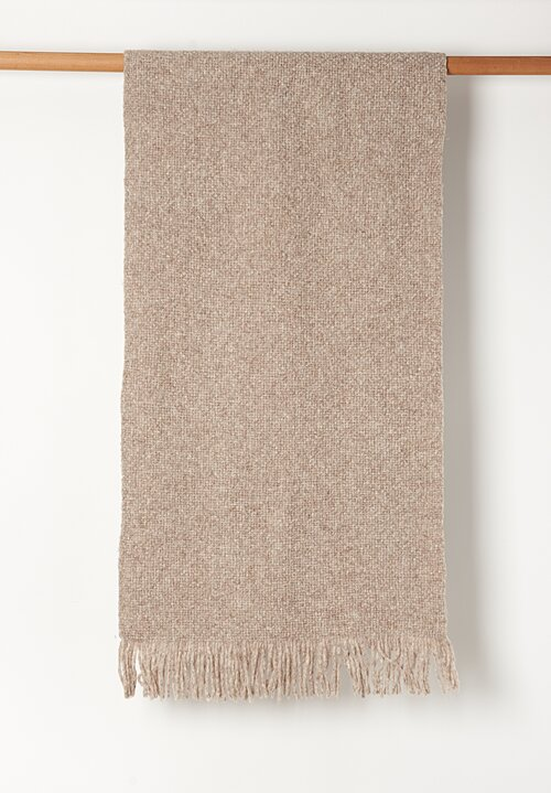 Lauren Manoogian Handwoven Baby Alpaca Brushed Wrap in Mouse Melange