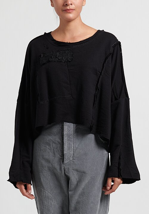 Umit Unal Patchwork Top in Black