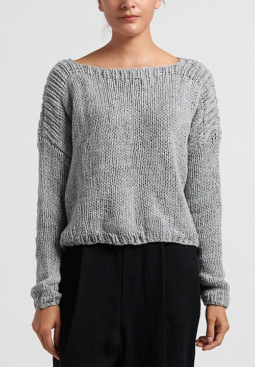 Umit Unal Medium Knit Sweater in Medium Grey