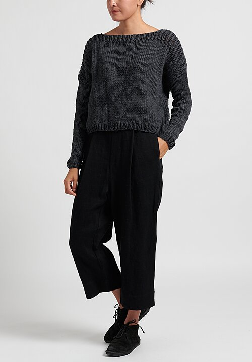 Umit Unal Medium Knit Sweater in Dark Anthracite