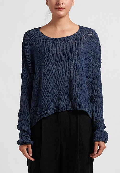 Umit Unal Cotton Hand Knit Sweater