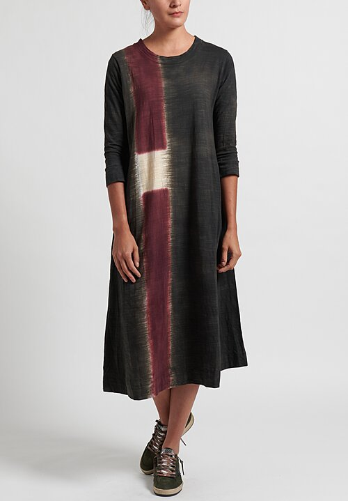 Gilda Midani Pattern Dyed 3/4 Sleeve Maria Dress in Color Block