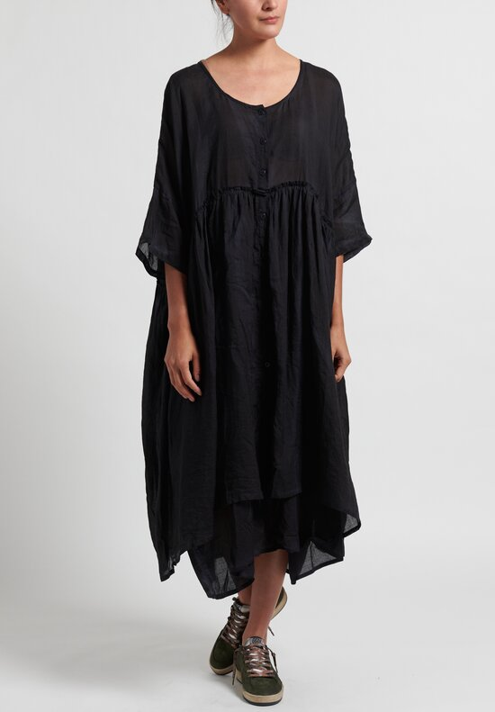 Gilda Midani Cotton Oversized Dress in Black