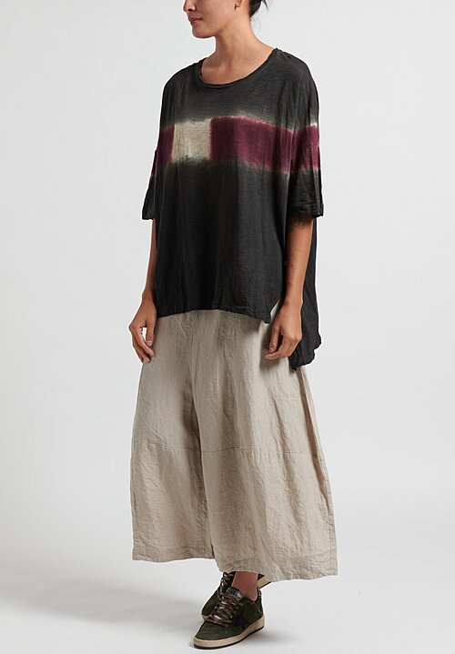 Gilda Midani Pattern Dyed Short Sleeve Super Tee in Color Block