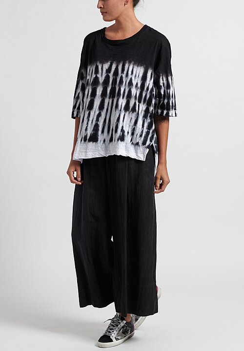 Gilda Midani Pattern Dyed Short Sleeve Super Tee in Waterfall