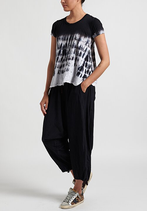 Gilda Midani Pattern Dyed Short Sleeve Monoprix Tee in Waterfall
