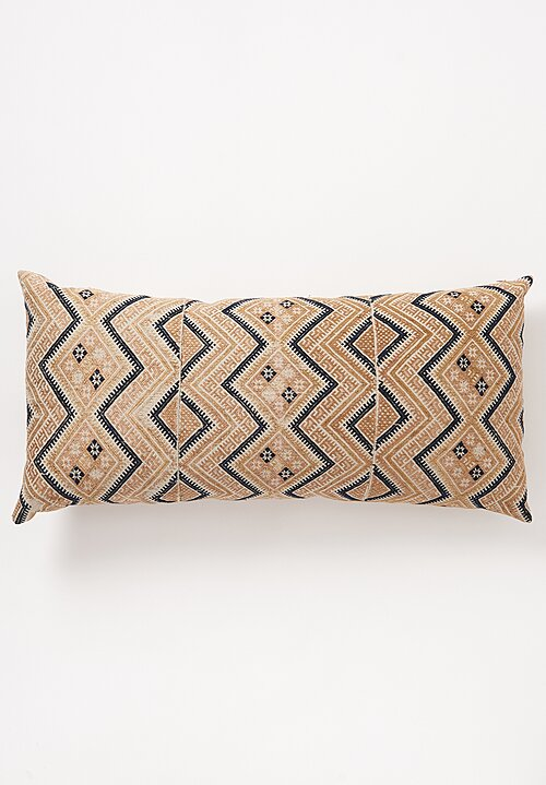Shobhan Porter Large Embroidered Chinese Lumbar Pillow