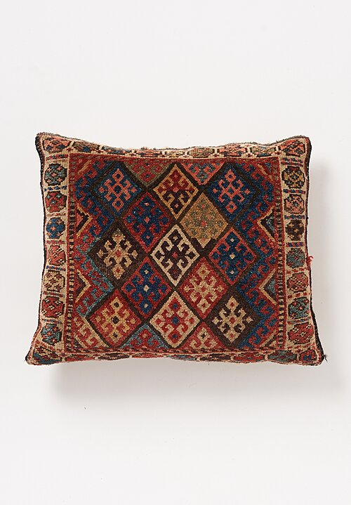 Shobhan Porter Handmade Vintage Natural Square Pillow