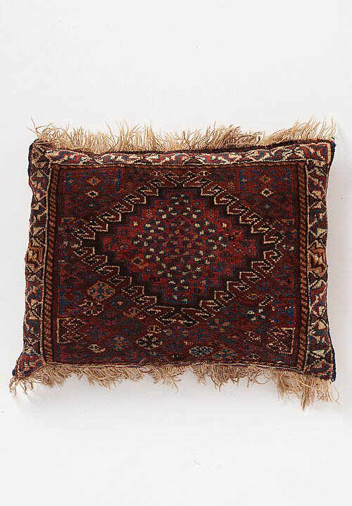 Shobhan Porter Vintage Handwoven Small Red Pillow