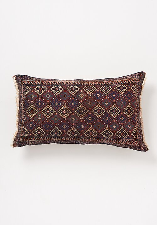 Shobhan Porter Vintage Kurdish Diamond Pattern Pillow