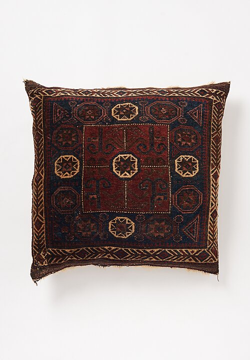 Shobhan Porter Large Vintage Square Starred Pillow II 32 x 29 in